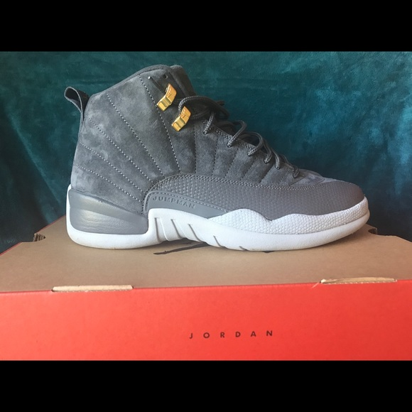 18279566f52ce2 Men s Jordan retro 12 wolf grey suede